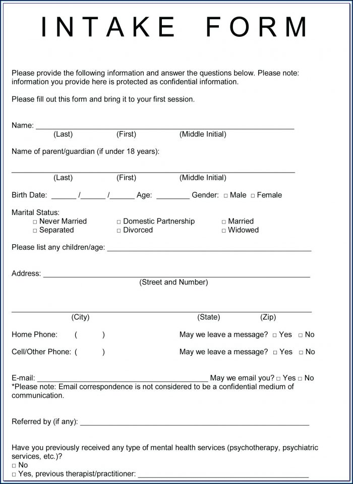 Free Esthetician Client Intake Form