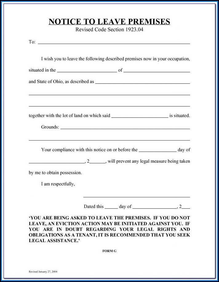 Free Illinois Eviction Notice Form