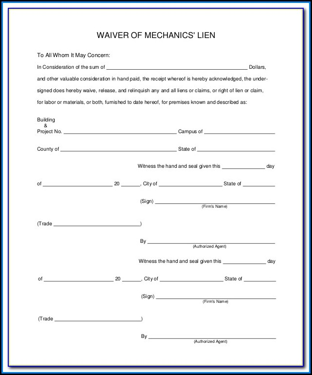 Free Mechanics Lien Form Illinois
