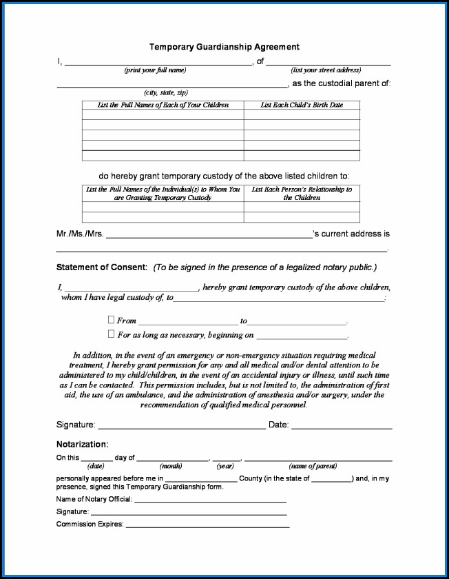 Free Printable Child Custody Forms