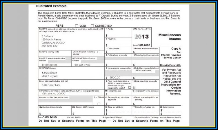 Free Tax Form 1099 Misc
