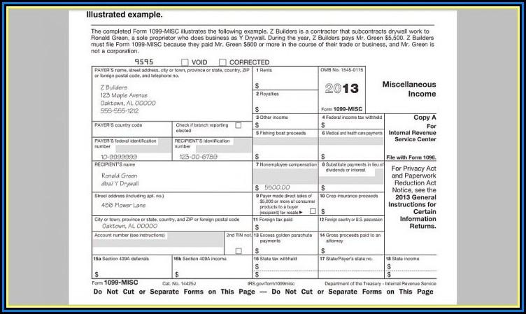 Free Tax Form 1099 Misc