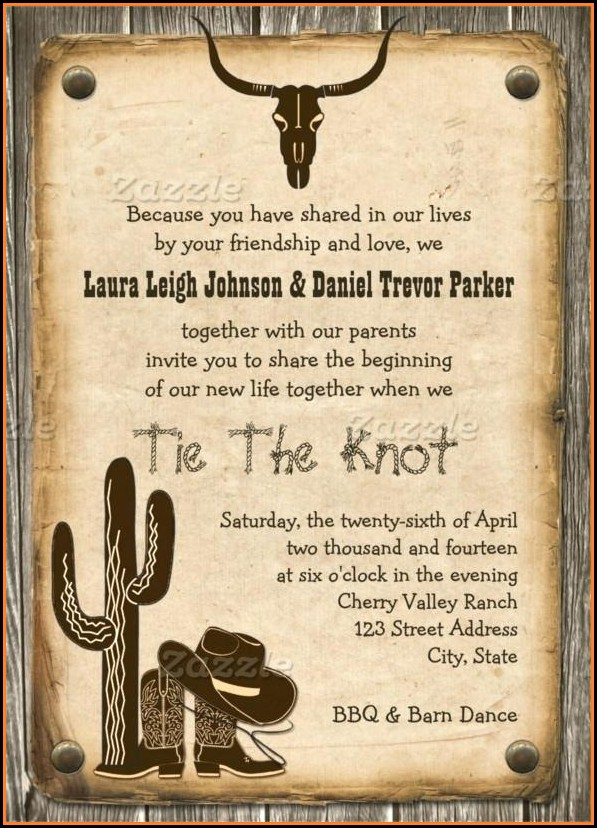 Free Western Birthday Invitation Templates
