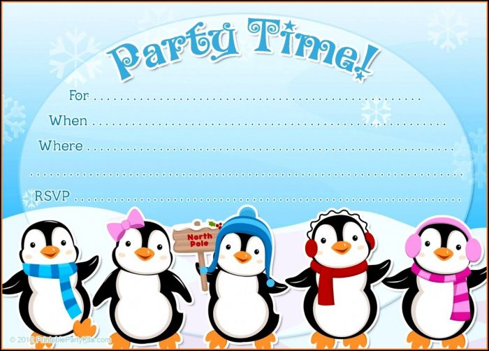 Free Winter Birthday Invitation Template