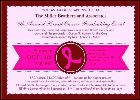 Fundraising Invitation Cards Templates