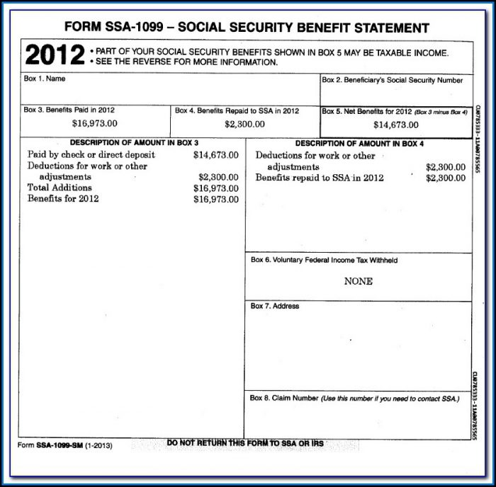 Get Social Security 1099 Form