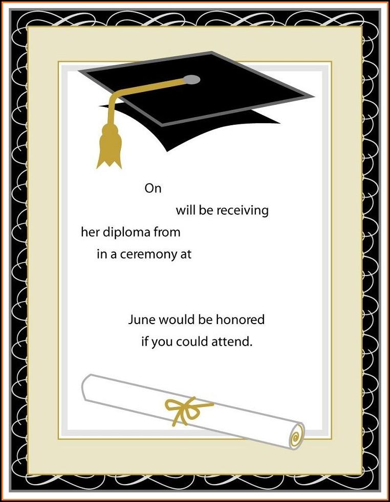 Graduation Invitation Card Template