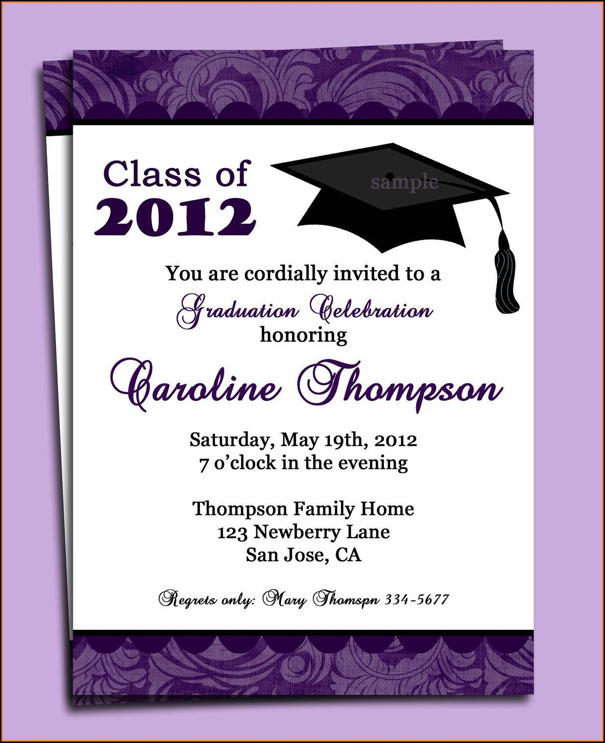 Graduation Invitation Cards Templates