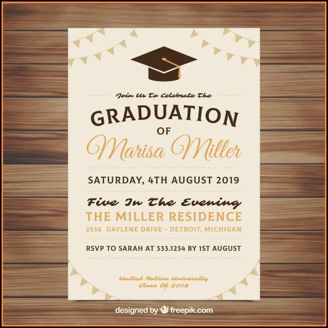Graduation Invitation Template Download Free