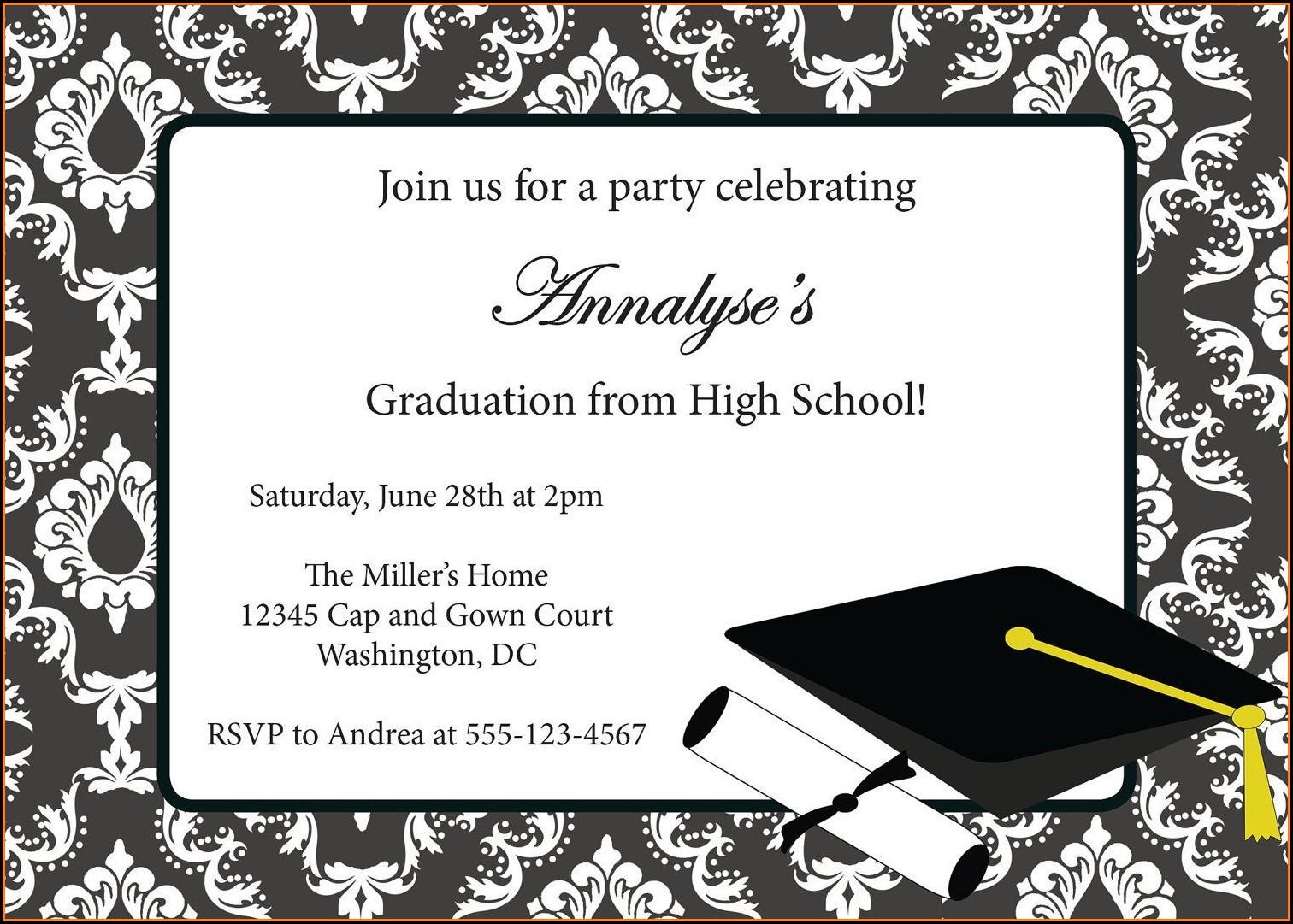 Graduation Party Invitation Card Templates