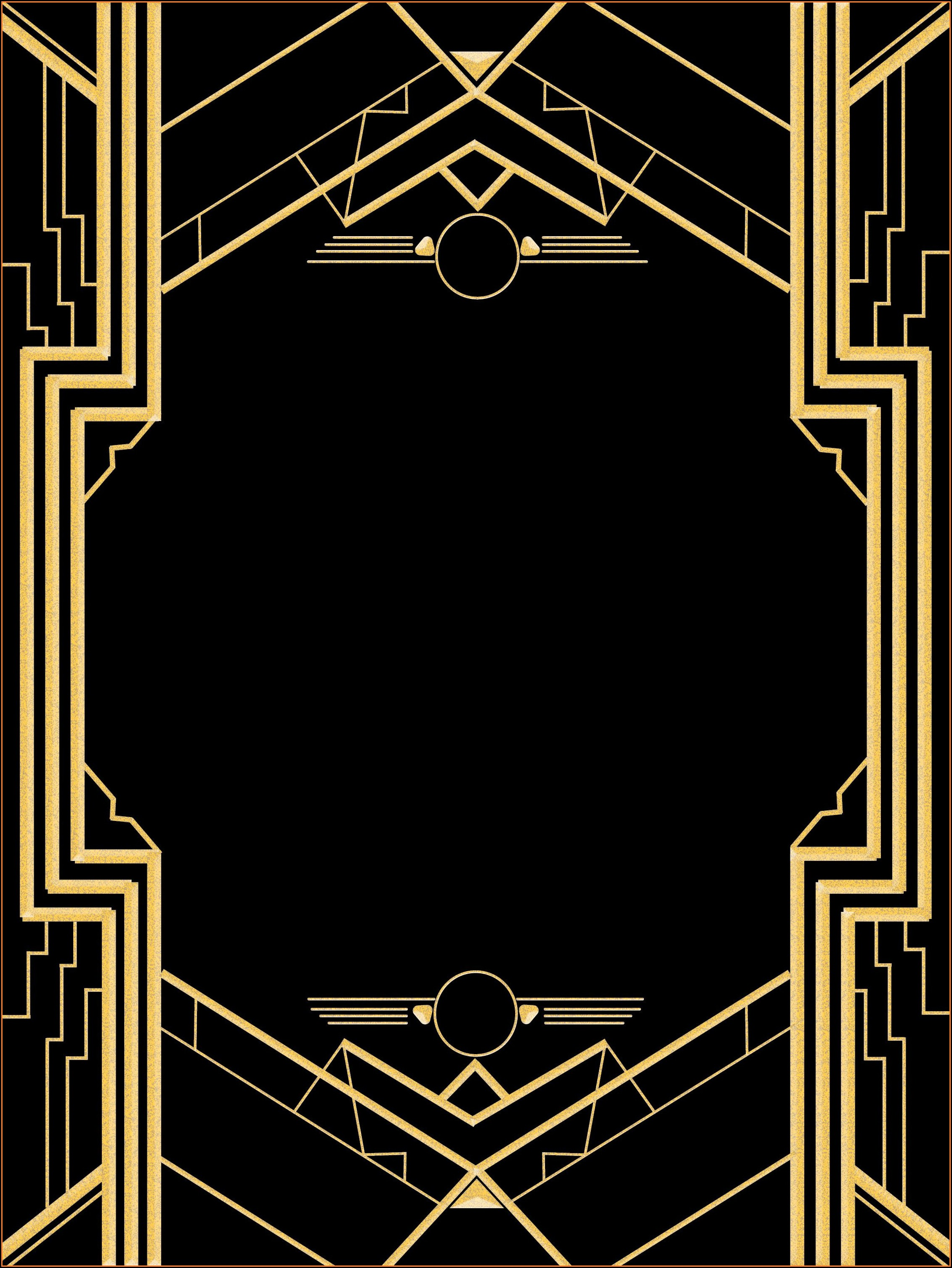 Great Gatsby Party Invitation Template Free