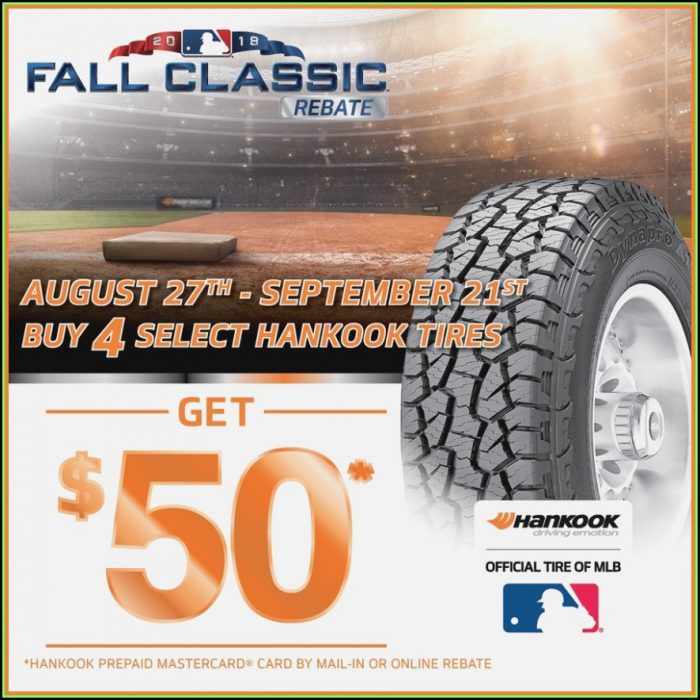 Hankook Rebate Form 2017