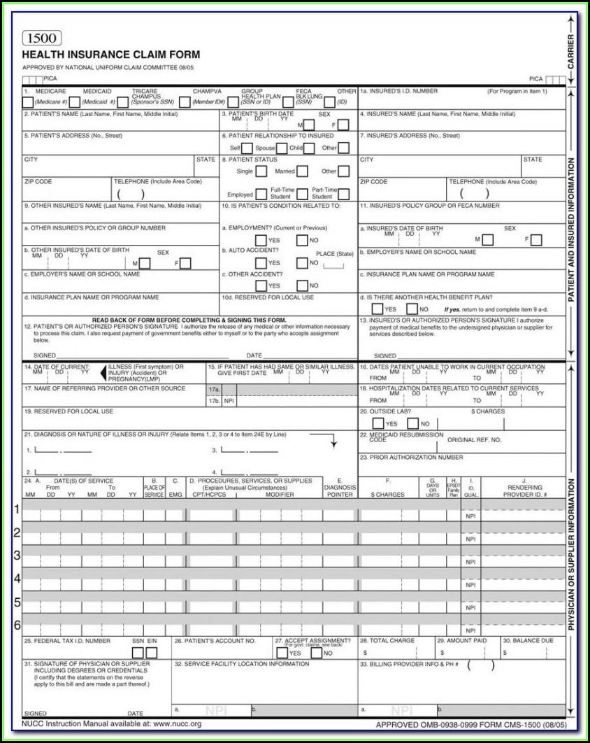 Hcfa 1500 Form 2016