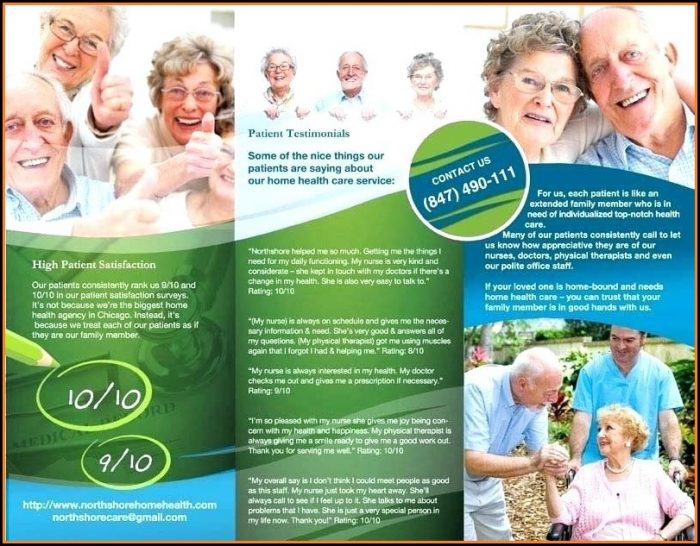 Home Health Care Brochures Samples