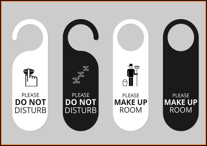 Hotel Door Hanger Template