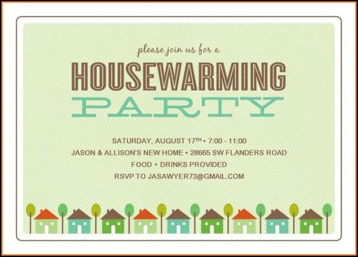 Housewarming Party Printable Templates