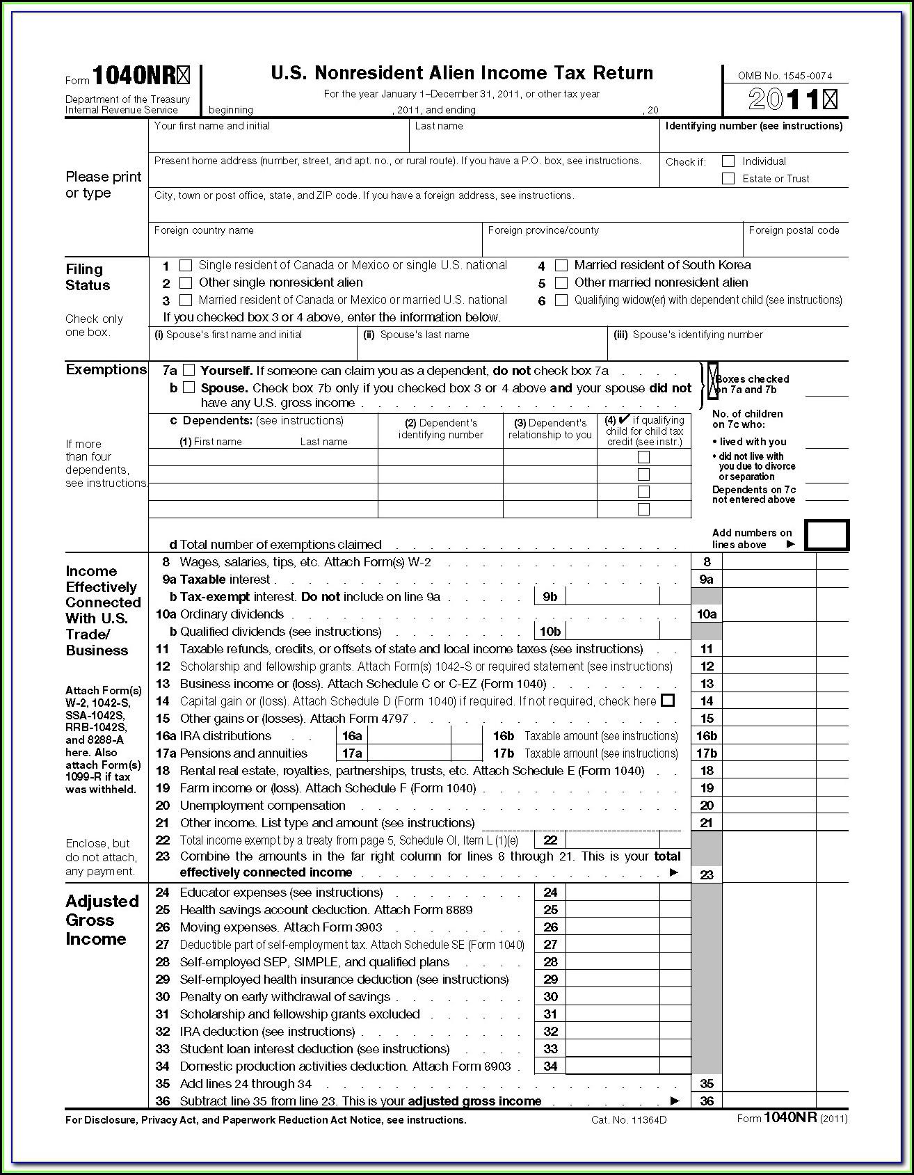 Income Tax Form 1040ez Instructions