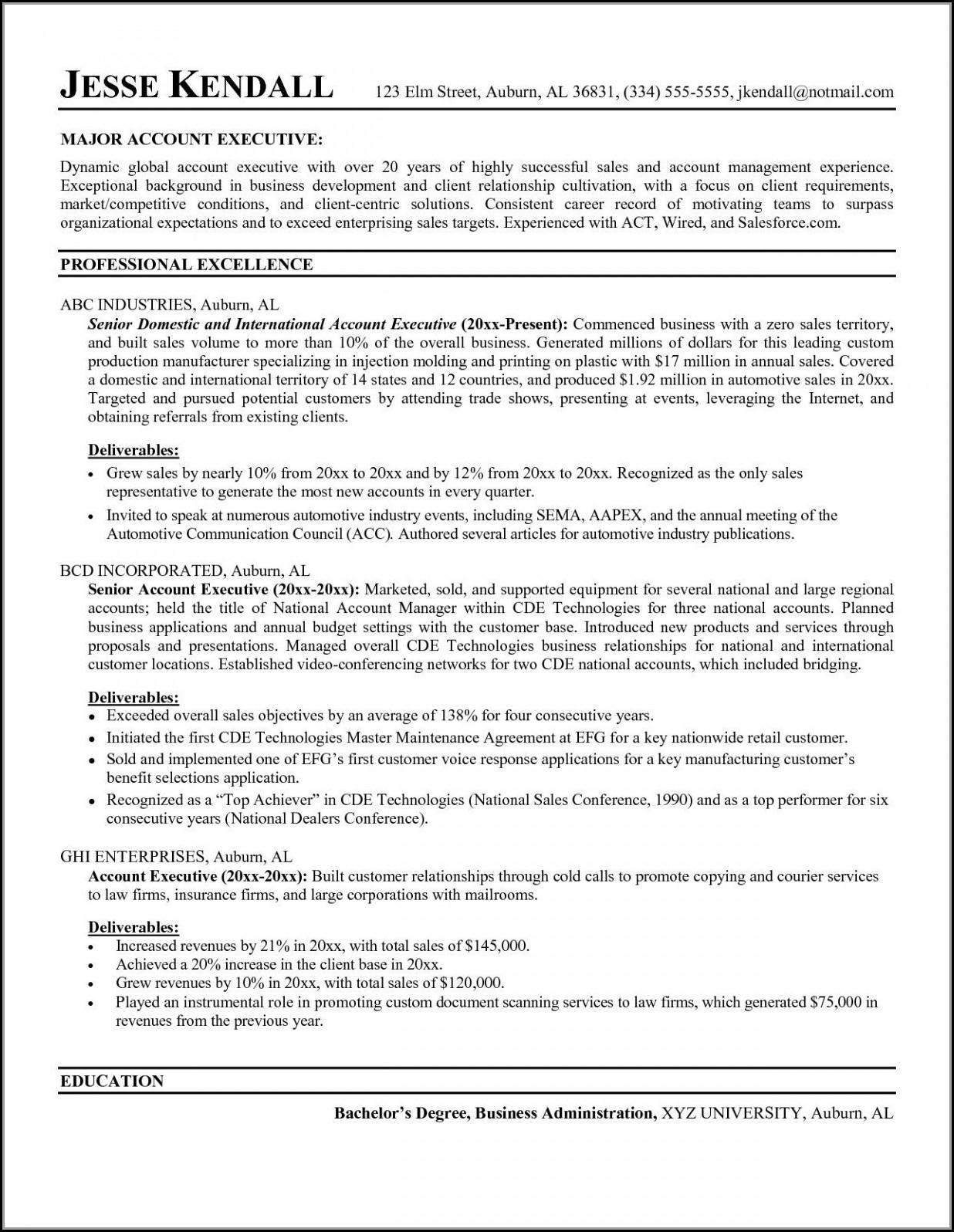 Inside Sales Representative Job Description Resume