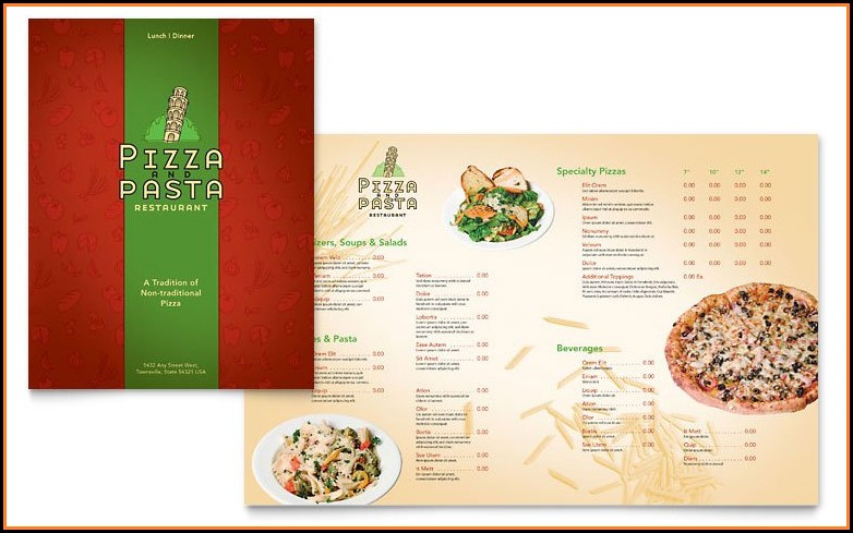 Italian Menu Templates For Word