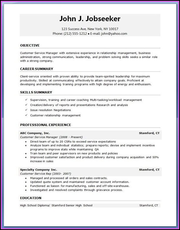 Latest Resume Templates Download