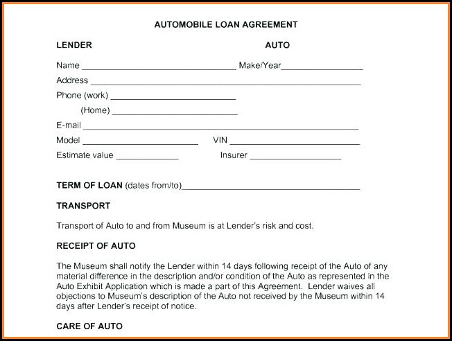 Lending Money Contract Template Free