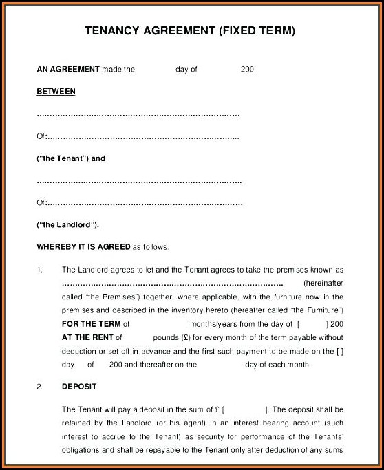 Lodger Agreement Template England