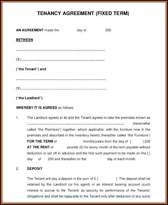 Lodger Agreement Template England