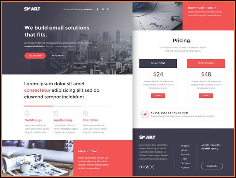 Mailchimp Newsletter Templates Psd