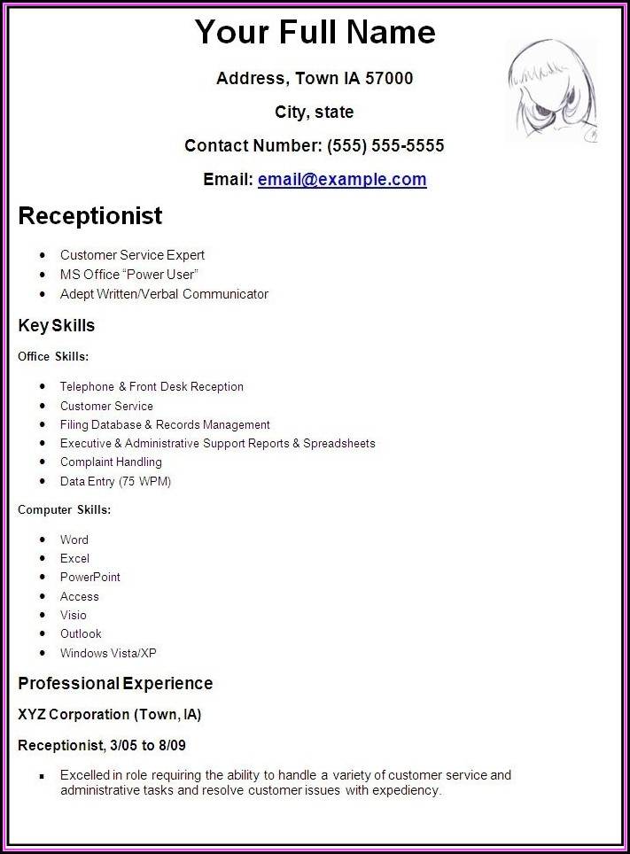 Make My Own Resume Template