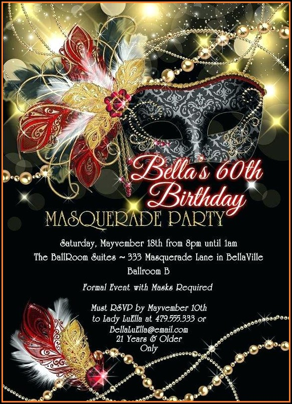 Masquerade Ball Invitation Template Free