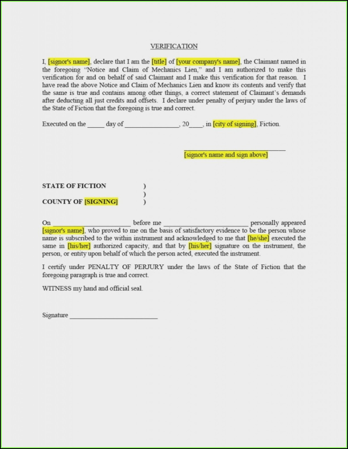 Material Lien Waiver Form Illinois