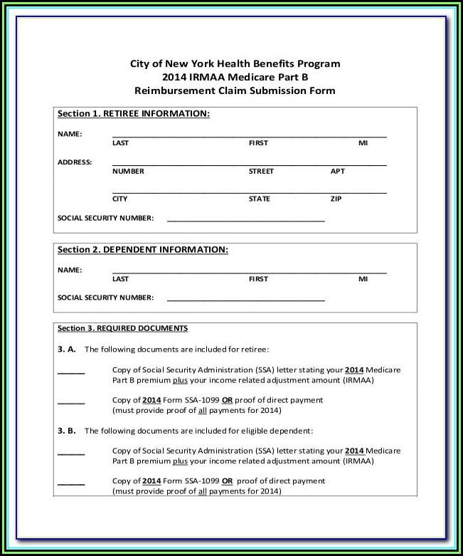 Medicare Claim Form Cms 1490s