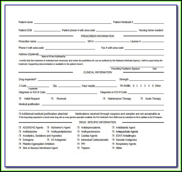 Medicare Part B Prior Authorization Form For Mri