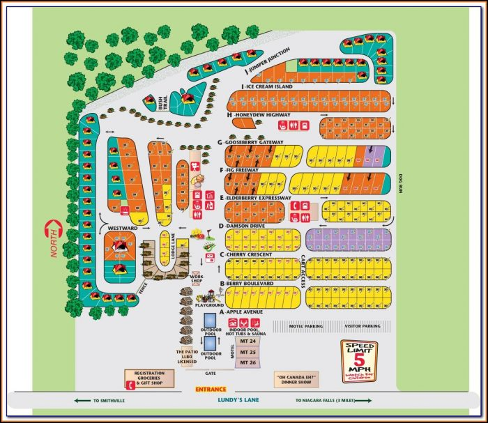 Myrtle Beach Koa Site Map