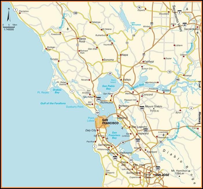 Napa Valley Ca Map California
