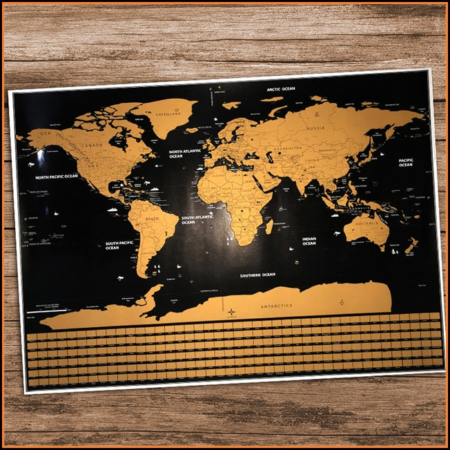 National Geographic Scratch Map