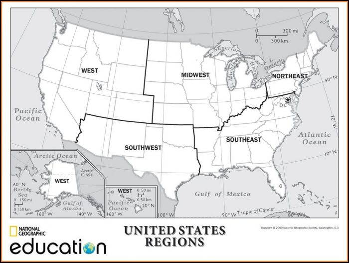 National Geographic United States Regions Map