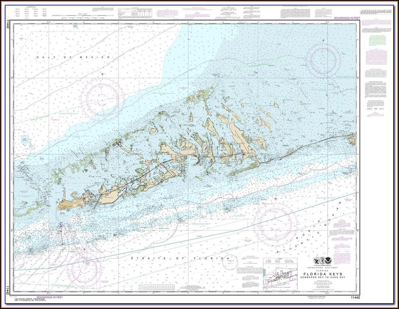Nautical Map Florida Bahamas