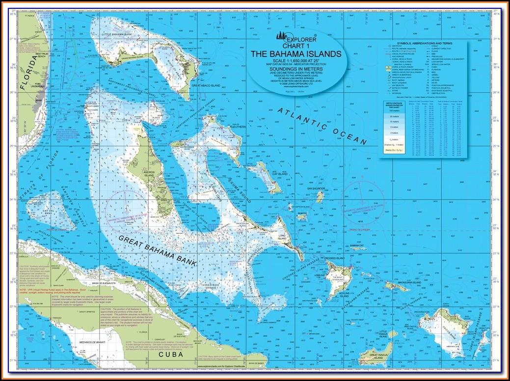 Nautical Map Of Bahamas