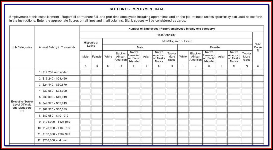 New Eeo 1 Form 2017