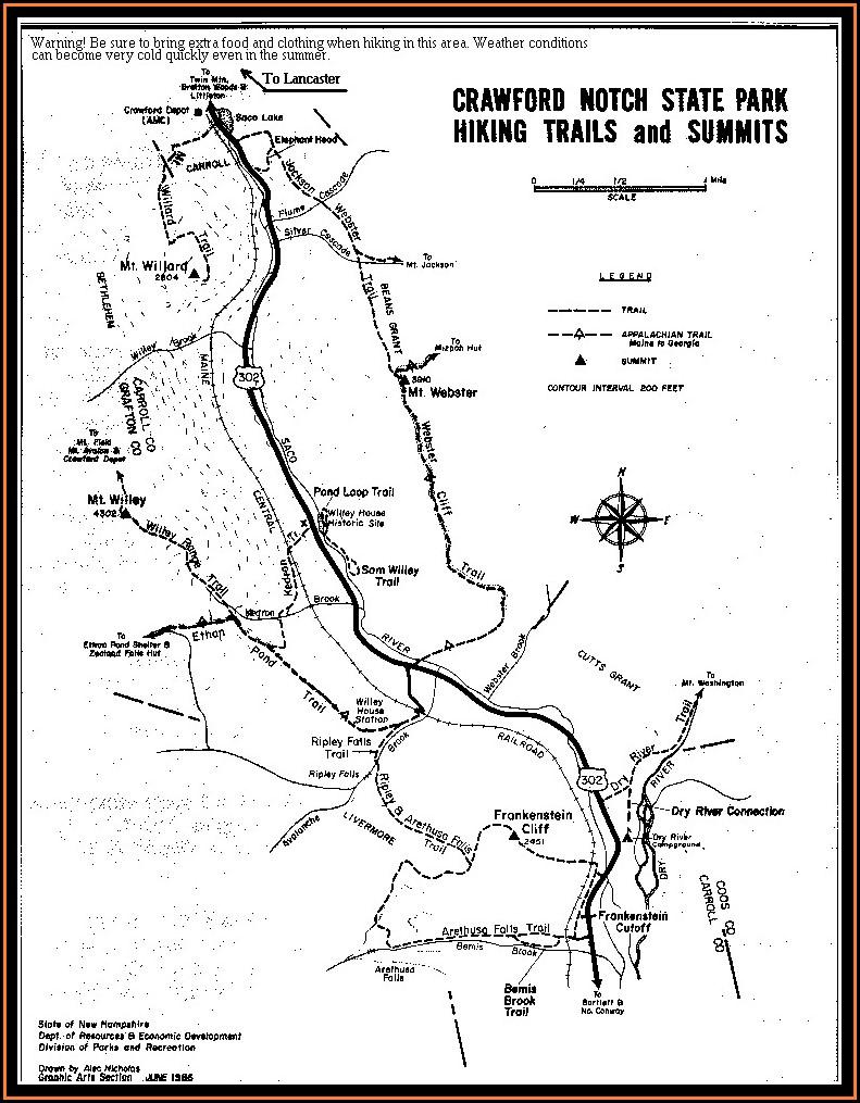 New Hampshire Hiking Maps
