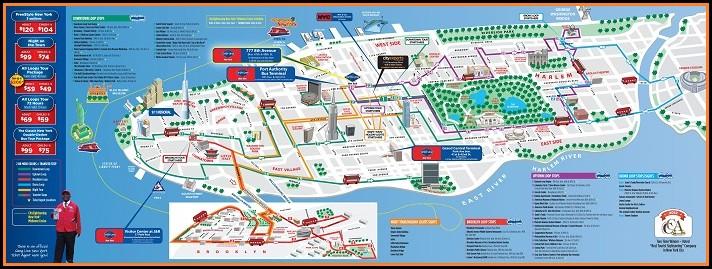 New York Hop On Hop Off Bus Map Pdf