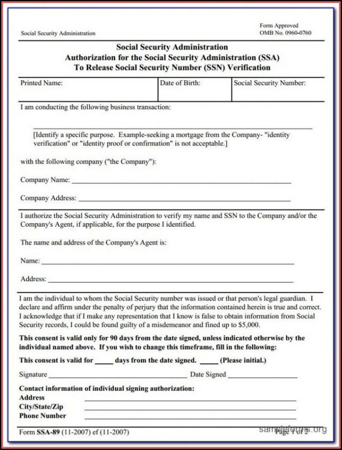 Non Social Security 1099 Form