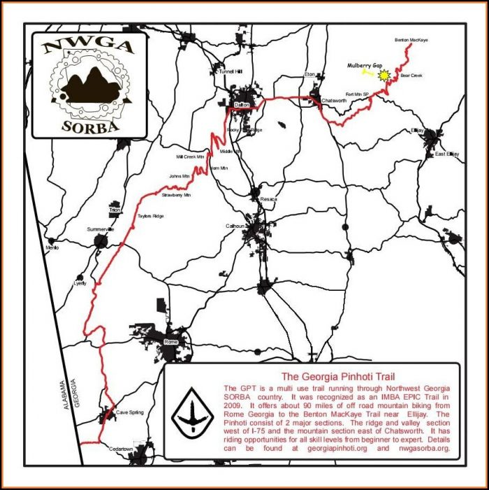 North Georgia Mountain Bike Trail Maps