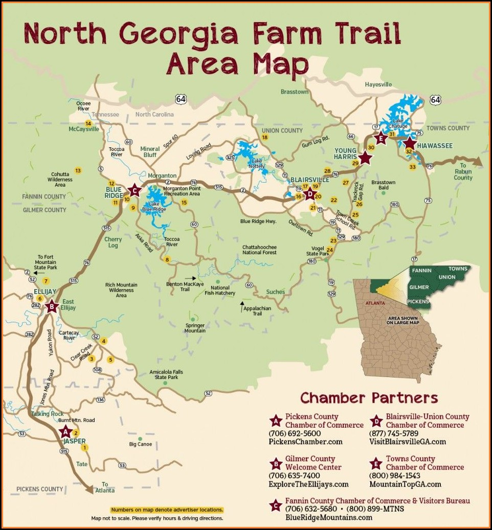 North Georgia Trail Maps