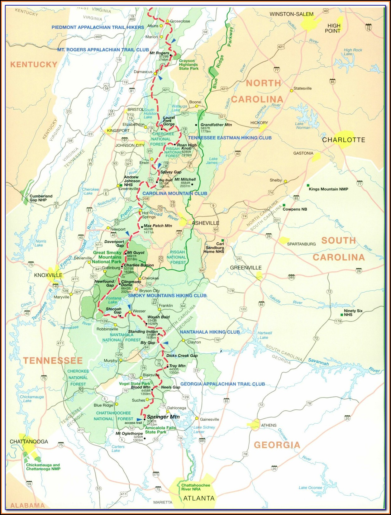 North Georgia Wine Trail Map