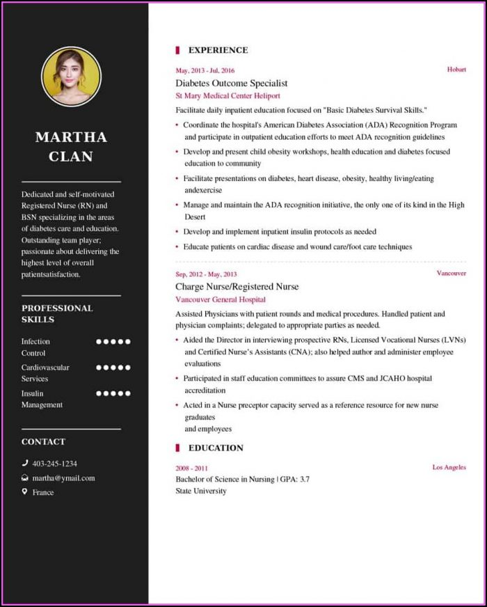 Nurse Resume Builder