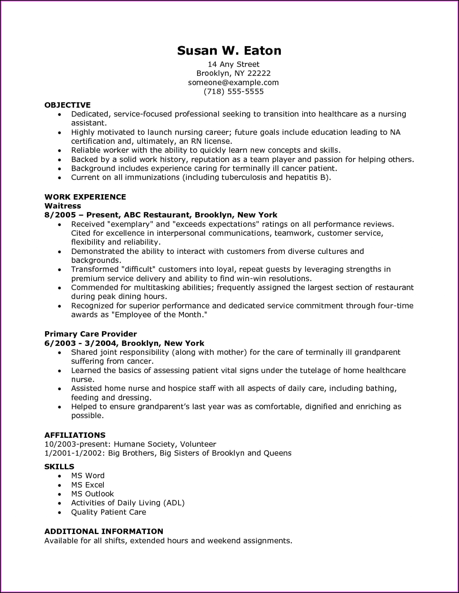 Nursing Resumes Templates Free