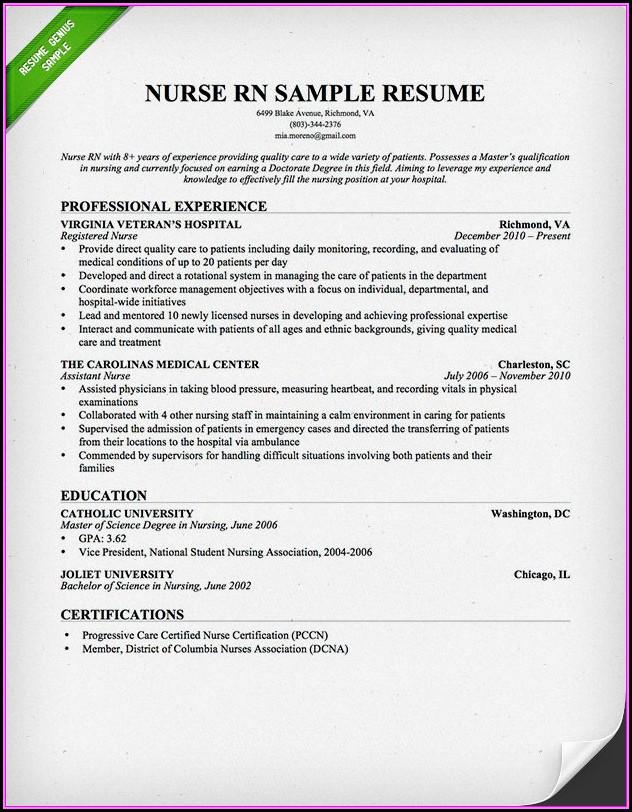 Nursing Resumes Templates