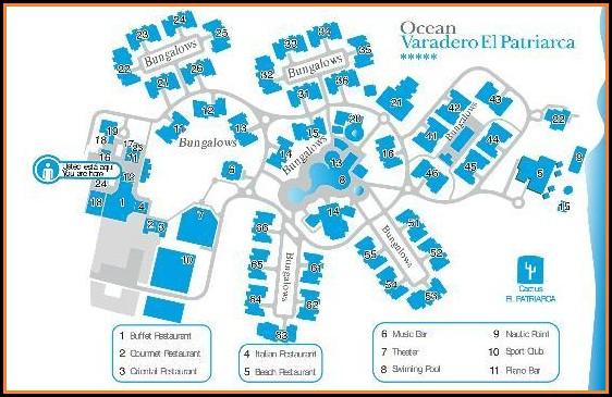 Ocean Varadero El Patriarca Hotel Map
